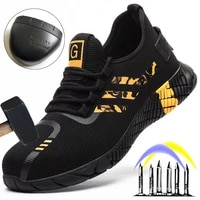 male indestructible sneakers anti puncture safety men anti smash work boots steel toe shoes footwear