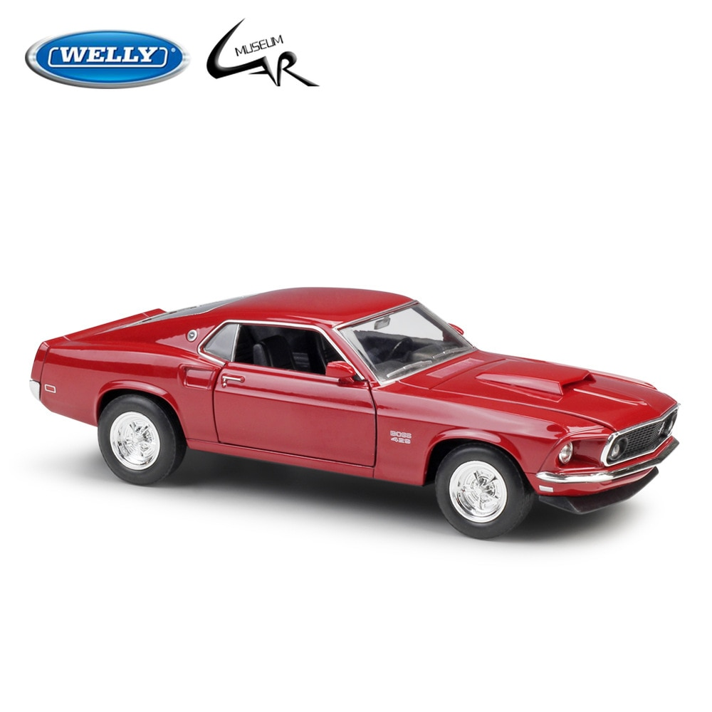 road signature vintage 1968 ford shelby mustang gt 500kr muscle race diecast 1 18 scale metal model cars Welly 1:24 Scale Diecast Car 1967 Ford Mustang Boss 429 Model Car Alloy Toy Collection Children Christmas Gifts