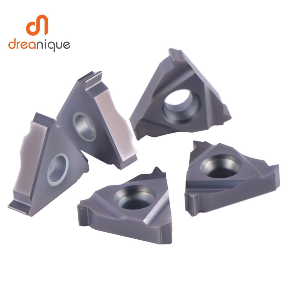 Купить с кэшбэком BSPT Carbide Insert  thread Turning Tool high quality 06IR 08IR 11IR 16IR 16ER  threading insert  HRC40