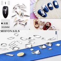 200pcsbag nail alien jewelry rhinestone human head heart shape flat back nail 3d jewelry stones nail tips jewelry art accessory