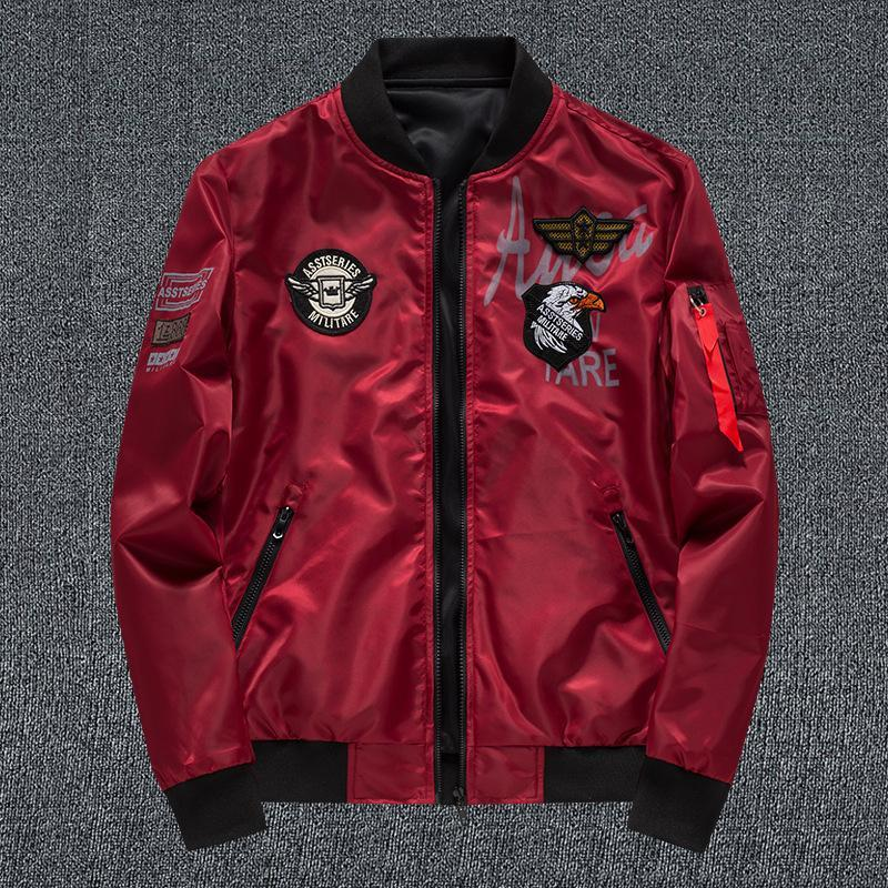 Jacket men's double-sided coat 2021 autumn new harbor air force one sports flight suit men's clothing  - buy with discount