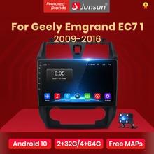 Junsun V1 Android 10.0 AI commande vocale 4G Carplay DSP autoradio multimédia GPS pour Geely Emgrand EC7 1 2009-2016 2din pas de dvd