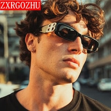 2021 Vintage Polarized Sunglasses Men Square Brand Designer Eyeglasses Men/Women Luxury Mirror Retro