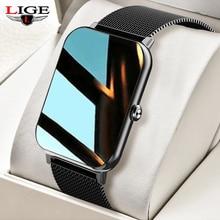 LIGE New 1.69 Full Touch Smart Watch Men Women Heart Rate Fitness Tracker Bracelet  Waterproof Sport