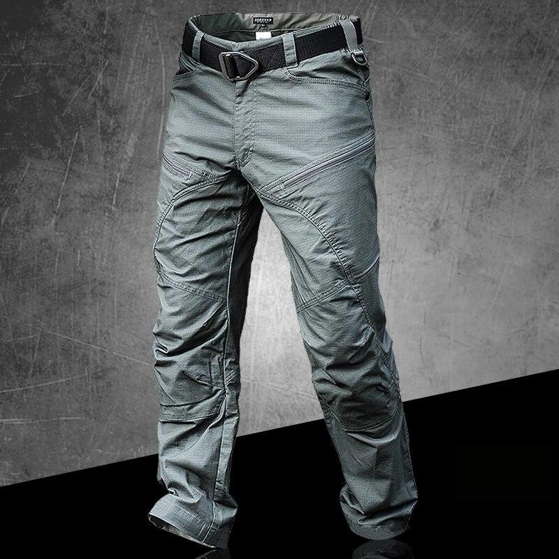 Брюки-карго мужские тактические, тренировочные штаны, повседневные в стиле милитари, уличная одежда, черные