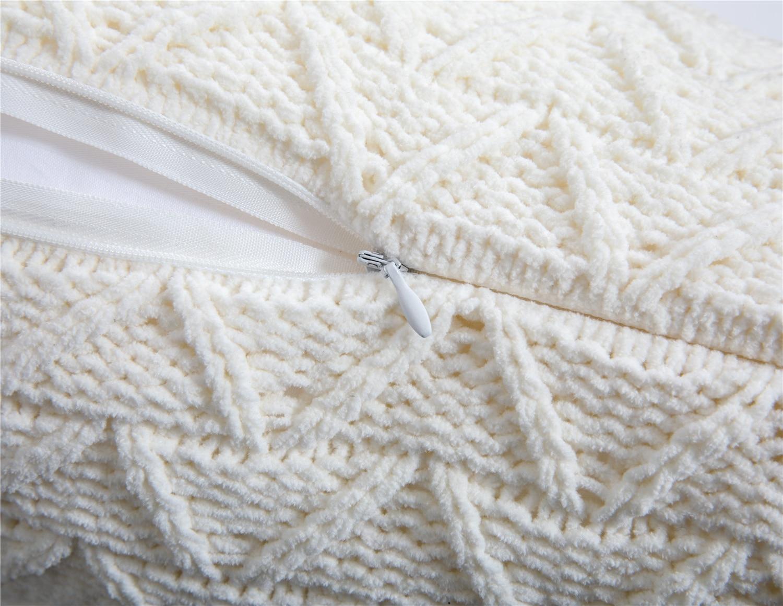 Купить с кэшбэком REGINA Cute Tassels Chenille Pillow Case Nordic Style Knitted Pillow Cover Fall Home Decorative Pillowcase Sofa Cushion Cover