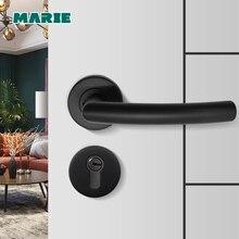 Poignée de porte demi-factice en acier inoxydable   Couleur noire, levier de porte intérieur, poignée de porte en Nickel brossé, LH1007