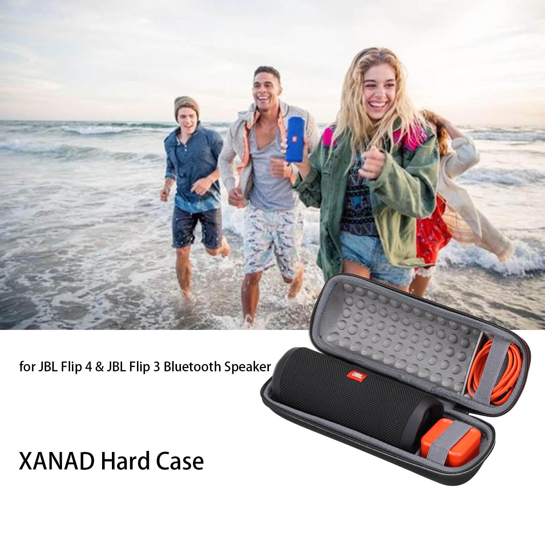 Funda dura de goma EVA impermeable XANAD para JBL Flip 4 y JBL Flip 3 Altavoz Bluetooth
