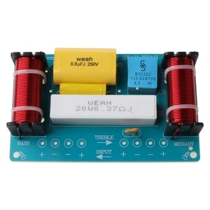 WEAH-338 3 Way 120W Speaker Frequency Divider Loudspeaker Crossover Filter X3UB