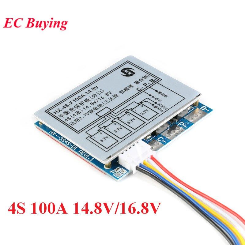 4S 100a 14.8v/16.8v li-ion lítio 18650 bateria bms pcm placa de proteção com sobrecarga e sobre a proteção da descarga