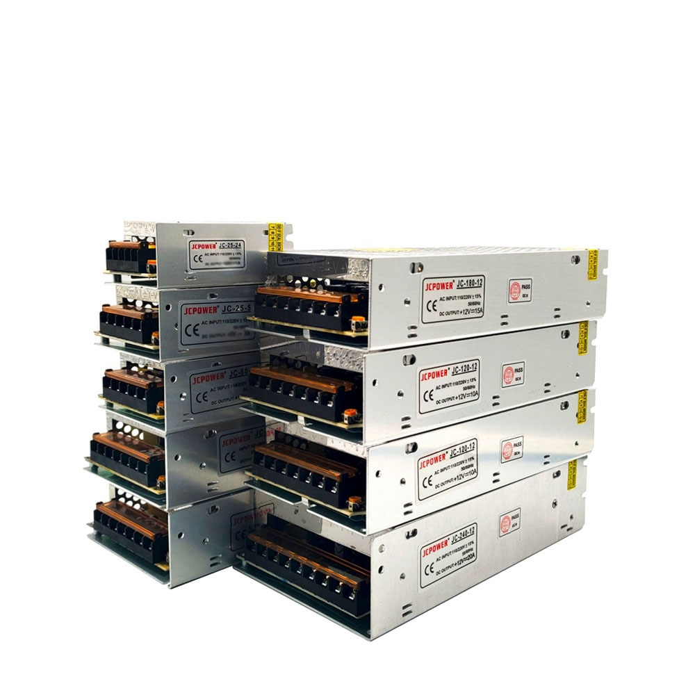 Metall Fall Netzteil Quelle Adapter AC110/220V Zu DC5V 2/3/5/6/8/10/12/20/30/40/60/70A Für Led-treiber Streifen CCTV transformator
