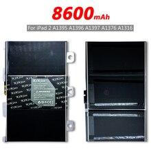 Ferramenta grátis kikiss 8600 mah a1395 bateria para ipad 2 ipad 2 a1395 a1396 a1397 a1376 a1316 bateria bateria + número de rastreamento