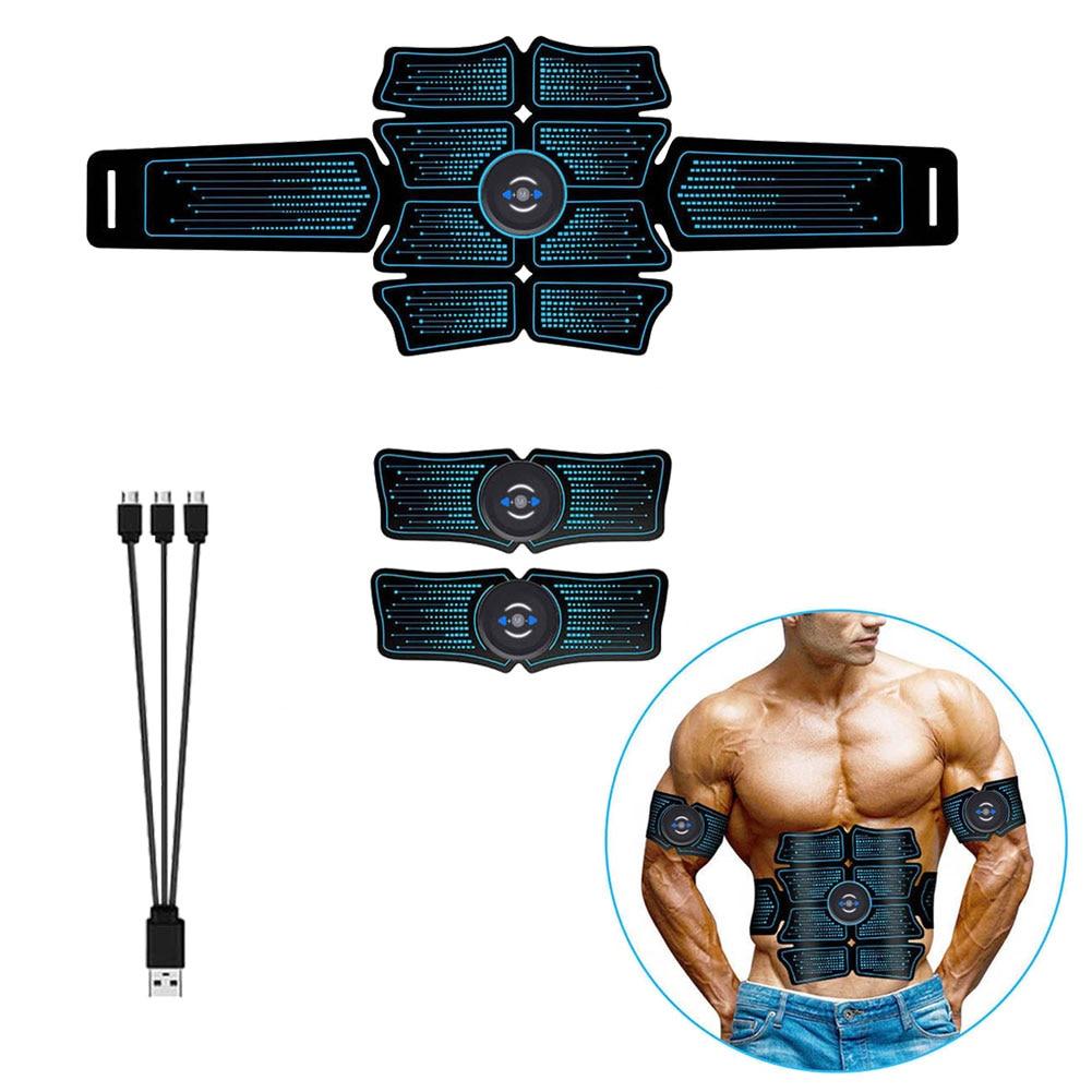 EMS Estimulador muscular Abdominal eléctrico inteligente recargable vía USB, pegatinas para la pérdida de peso, tonificador adelgazante corporal, masaje Fitness