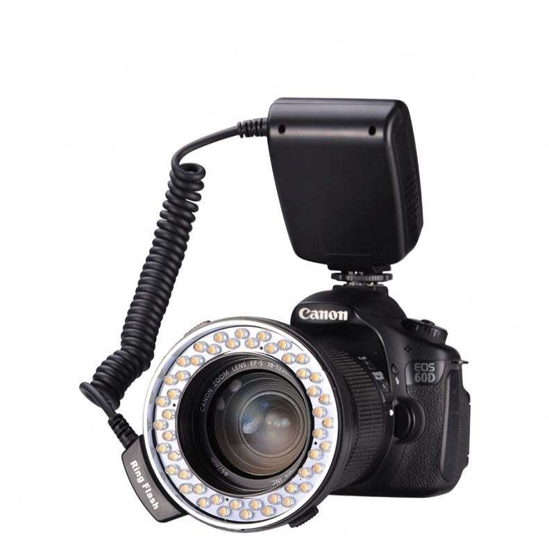 Camera Photo Macro Led Ring LED Flash Light Round fill light With Lens Adapter For DSLR Camera Canon / Nikon camera light