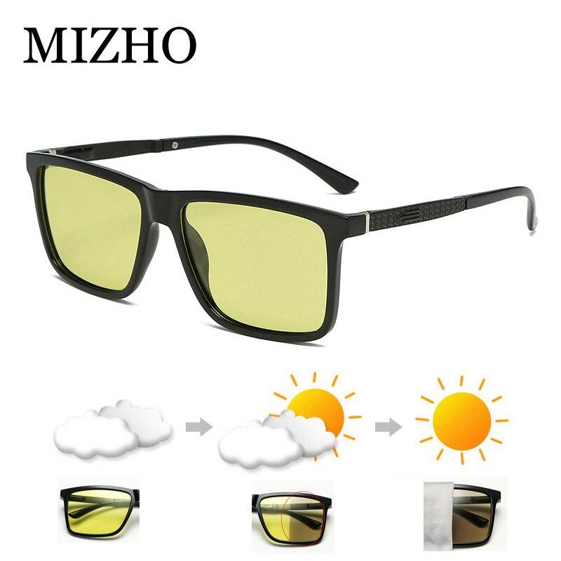MIZHO gafas polarizadas fotocromáticas amarillas, gafas de protección contra luz azul para mujeres, gafas para hombres, mira el teléfono bloqueando el reflejo, gafas para ordenador