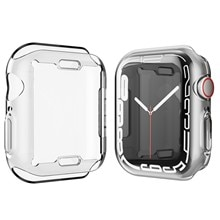 Soft Protective Case for Iwatch 7 45mm 41mm Transparent All-Covered Screen Protector Cover for Apple
