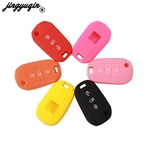 jingyuqin 3 Button Silicone Rubber Key Case for Peugeot 3008 208 308 508 408 2008 Protector Cover Ho
