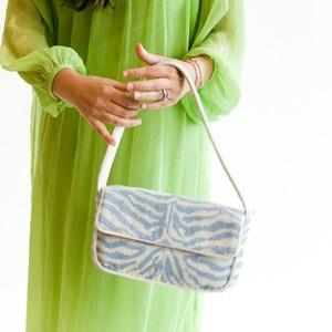 NEW Simple design canvas women's solid color high quality leather handbag underarm bag versatile line shoulder messenger bag