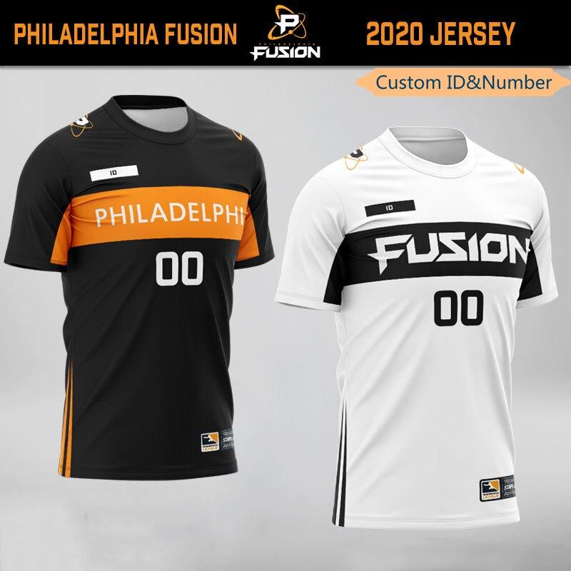 Camiseta personalizada con el nombre personalizado del equipo de los búhos de Filadelfia Fusion, camisetas para fanáticos del juego, camiseta de identificación para hombres y mujeres