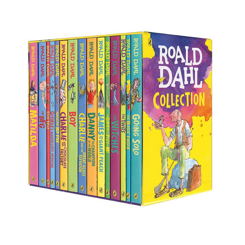 16 Books/set Roald Dahl Collection Children's Literature English Picture Novel Story Book Set Early Educaction Reading for Kid