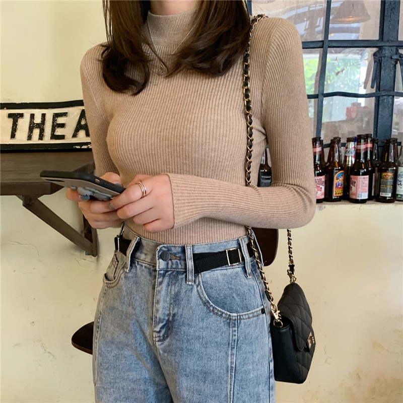 Winter Women Turtleneck Sweaters 2020 New Fashion Autumn Knitted Jumpers Female Korean Chic Pullovers Slim Tops Clothes