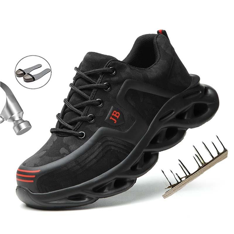 الصلب تو رجل أحذية عمل موضة مكافحة ثقب غير قابل للتدمير حذاء رياضة أحذية أمان إندوستيال في الهواء الطلق حماية