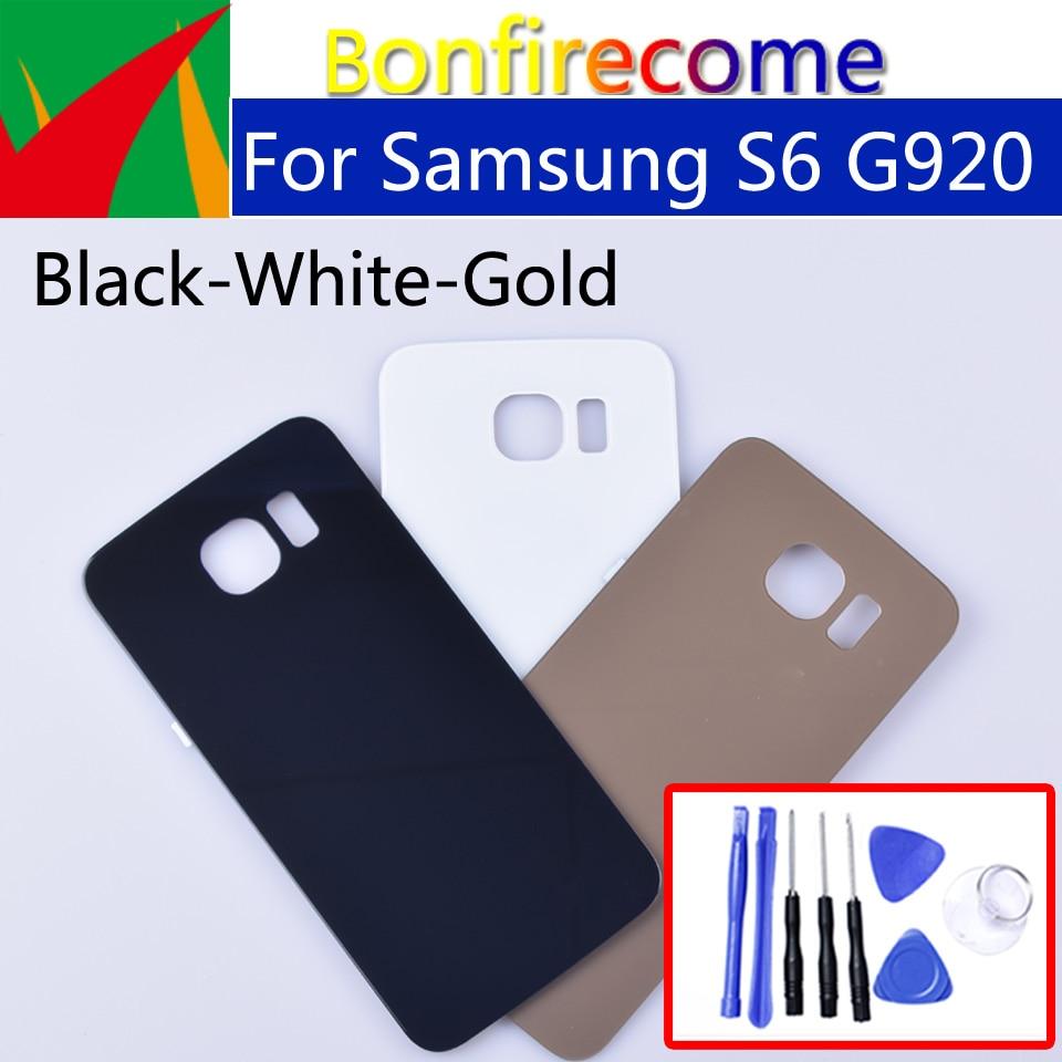 S6 cubierta trasera de batería para Samsung Galaxy S6 G920 G920F G920A G920FD G920I carcasa trasera batería puerta piezas de repuesto