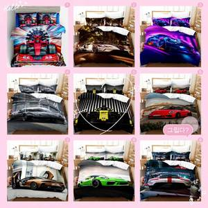 Racing car Famous car 3D printed bedding sets duvet cover and pillowcase home textiles luxury bedding set 3d digital printing