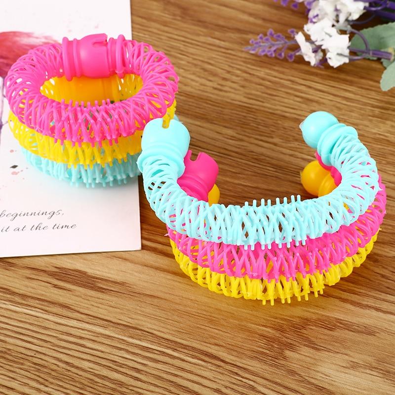 8pc hairdress magia modelador de cabelo espiral cachos rolo rosquinhas onda ferramenta de estilo de cabelo acessórios para o cabelo diy salão de beleza modelador plástico macio