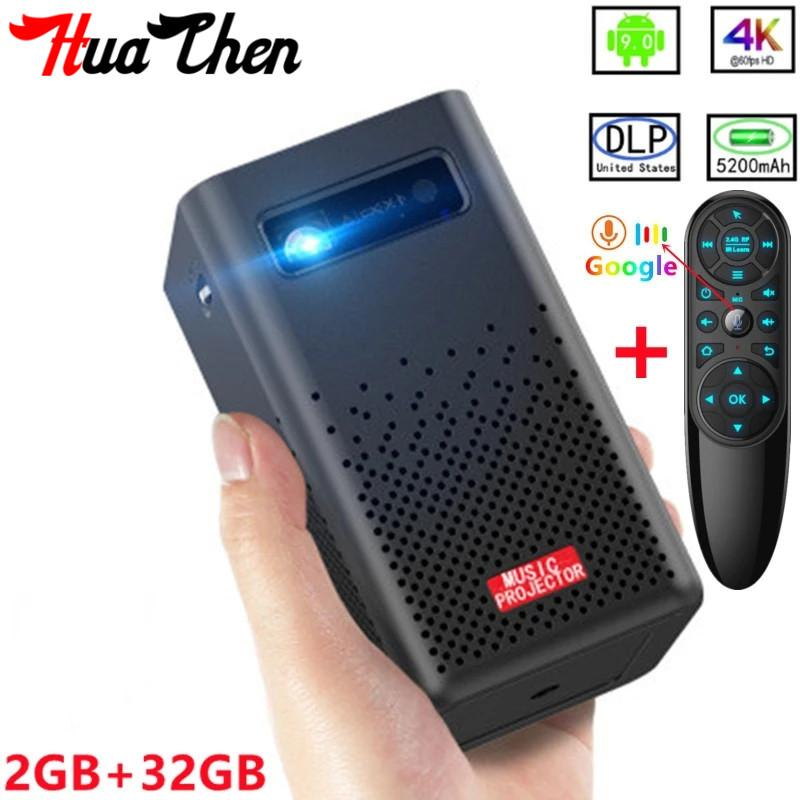 DLP HD Home 1080P Portable Wireless WiFi Android Apple Phone Tablet PC Projector 4K Cinema HD Smart 3D Projector
