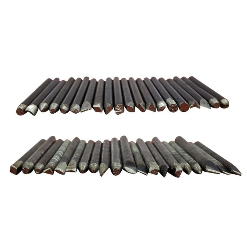 20 peças de aço socos flor soco selo conjunto jóias metal artesanato carimbar ferramentas aquecimento a matéria prima e adicionar um pouco de bórax