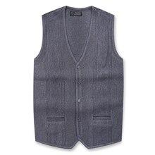 Nouveauté hiver automne gilet hommes Cardigan décontracté laine tricot gilet sans manches chaud élastique col en v mâle pull