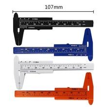 Hohe Qualität 0-80mm Doppel Regel Skala Kunststoff Messschieber Mess Student Mini Werkzeug Lineal