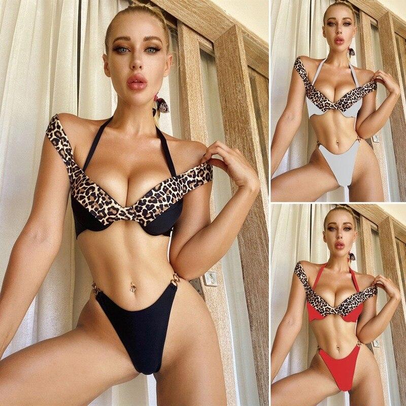 Outuspin sexy clube biquinis define fora do ombro roupa de banho underwire acolchoado mulher maiôs cintura baixa tanga cabresto ternos brasileiros