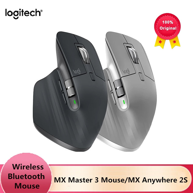 Get Original Logitech MX Master 3/Master 2S/Anywhere 2S Wireless Mouse Wireless Bluetooth Gaming Mouse Office Mouse for laptop pc