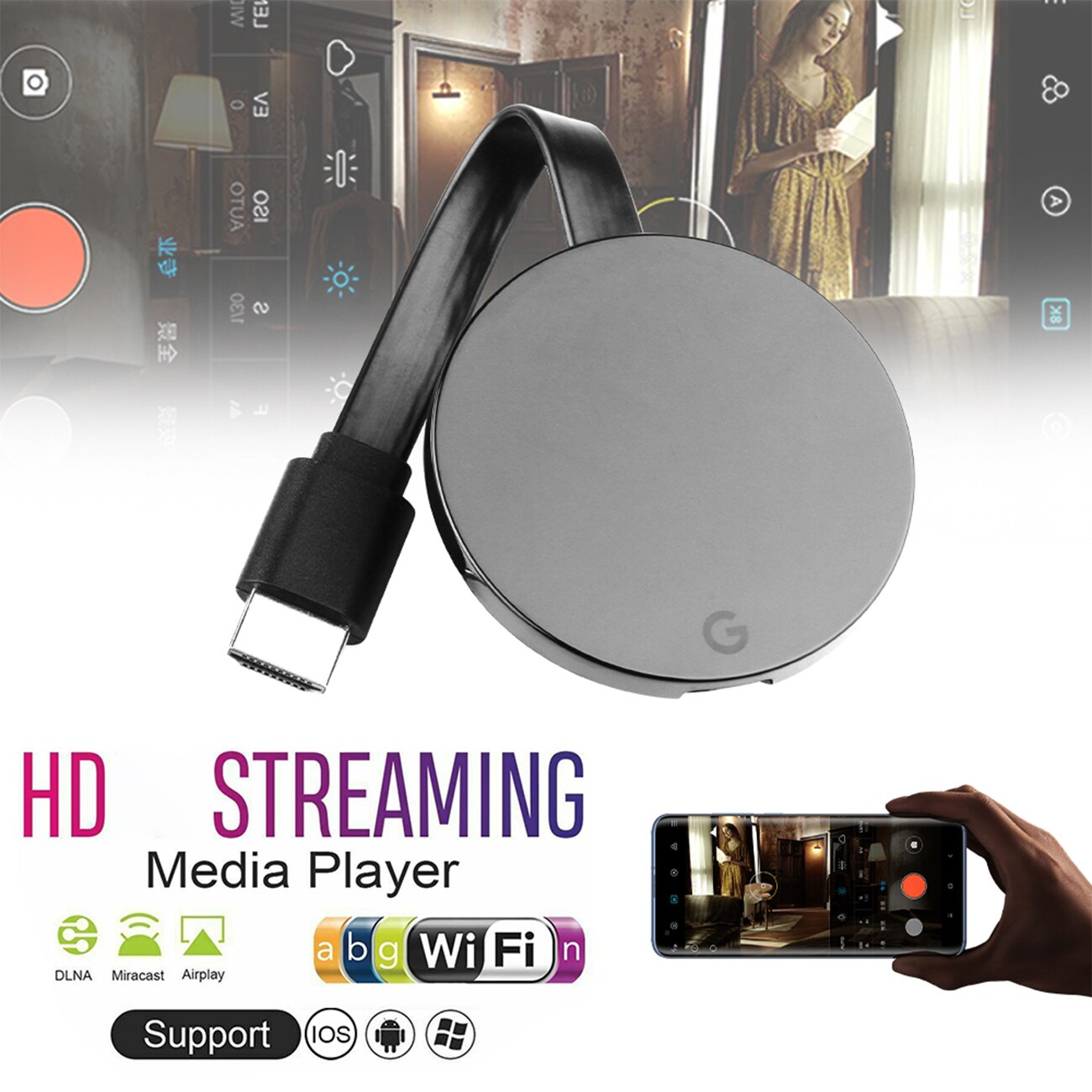New WiFi Wireless Display Dongle TV Stick for google chromecast ultra 4K TV Stick Media Video Stream