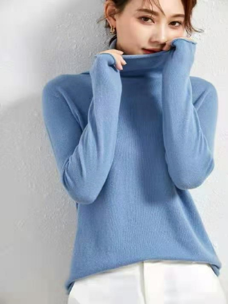Sanofi Cashmere Knitted Sweater Women 2020 Autumn Winter Long Sleeve Pullover Ladies Jumper Soft Tight enlarge