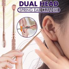 Dual Head Spring Ear Cleaner 3 Pack Stainless Steel Ear Cleaning Tool Ear Wax Removal Tool for Kids
