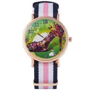 Women's Watch Butterfly High-heeled Shoes Pattern Dial Watch for Lady Mixed Color Strap Wristwatch for Girls
