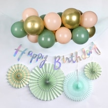 19pcs Balloons Garland Arch Kit Macaron Avocado Green Pastel Latex Balloon RETRO Green Birthday Wedding Baby Shower Party Decor