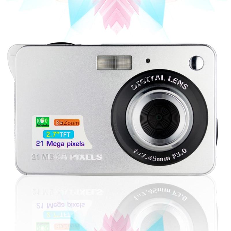 2.7 Inch Ultra-thin 21MP HD Digital Camera Students Digital Cameras Birthday Gift for Kids Friends VDX99