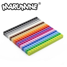 Marumine 1x16(3H) gebäude Ziegel Cube 30PCS Basis Blöcke Teil 2465 MOC Stadt Partikel DIY Klassische Bau Pädagogisches Spielzeug