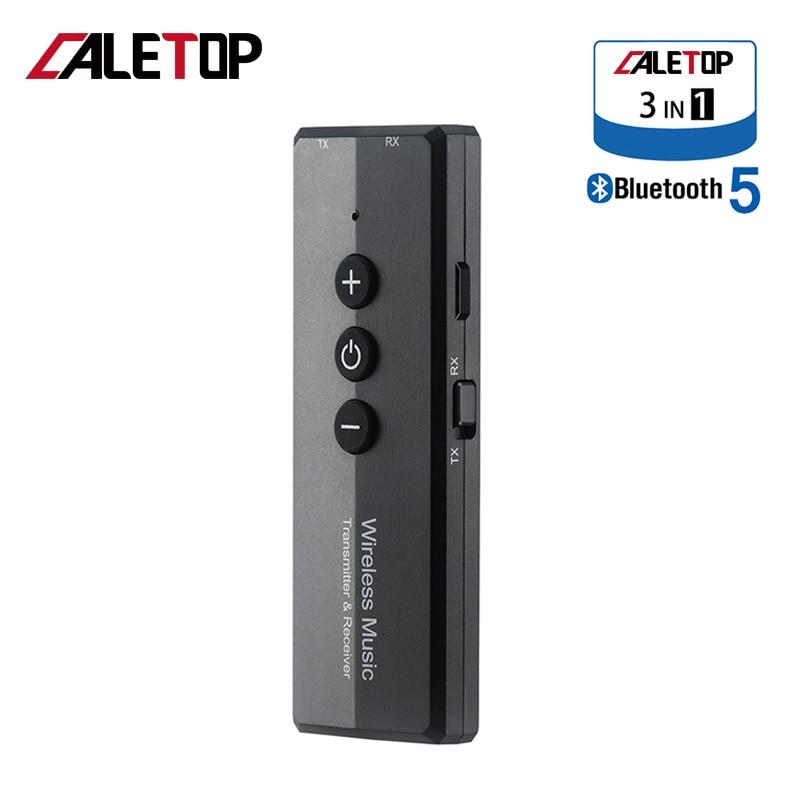 3 en 1 transmisor Bluetooth receptor V5.0 adaptador inalámbrico estéreo para TV equipo de coche altavoz 3,5mm Jack Aux Audio EDR + Dongle