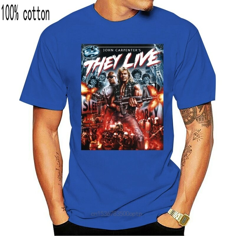 New They Live Movie 100% Cotton Men'S T-Shirt E0553 2021 Trends Tee Shirt
