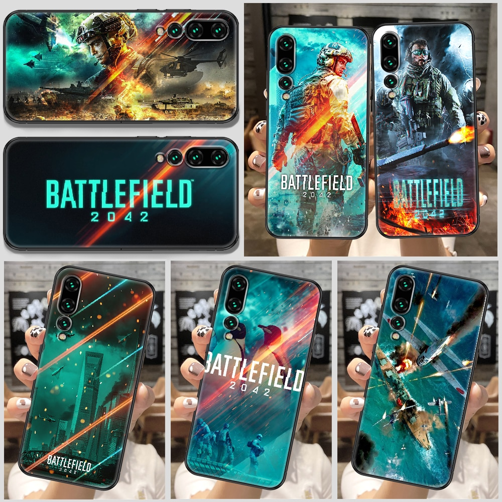Battlefield 2042 Game Phone Case For Huawei P Mate P10 P20 P30 P40 10 20 Smart Z Pro Lite black tpu hoesjes luxury cell cover