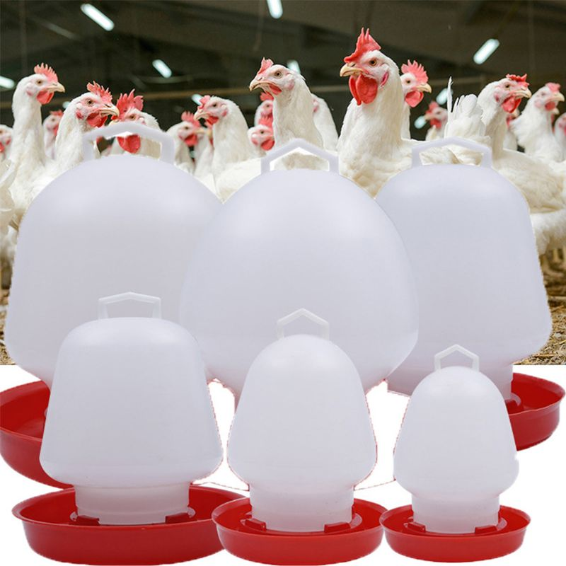 Round Bubble Chicken Drinking Fountain Device Hanging Cup Waterer Bowl Pet Poultry Water Drinker Household Pet Feeding