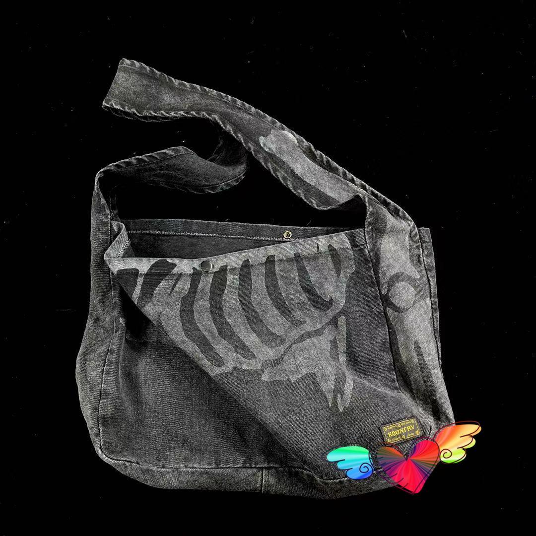 KAPITAL Backpacks 2021 Men Women High Quality Vintage Rib lines KAPITAL Bags Denim canvas Bag