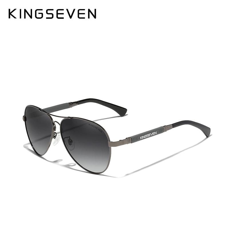 KINGSEVEN 2021 New Trend Quality Titanium Alloy Men's Sunglasses Polarized Sun glasses Women Pilot Mirror Eyewear Oculos de sol