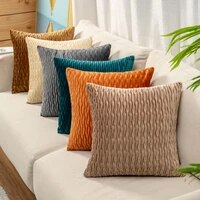 pure color velvet plaid pillowcase home living room bedroom sofa pillow case plush cushion cover home decor pillow cover 45cm