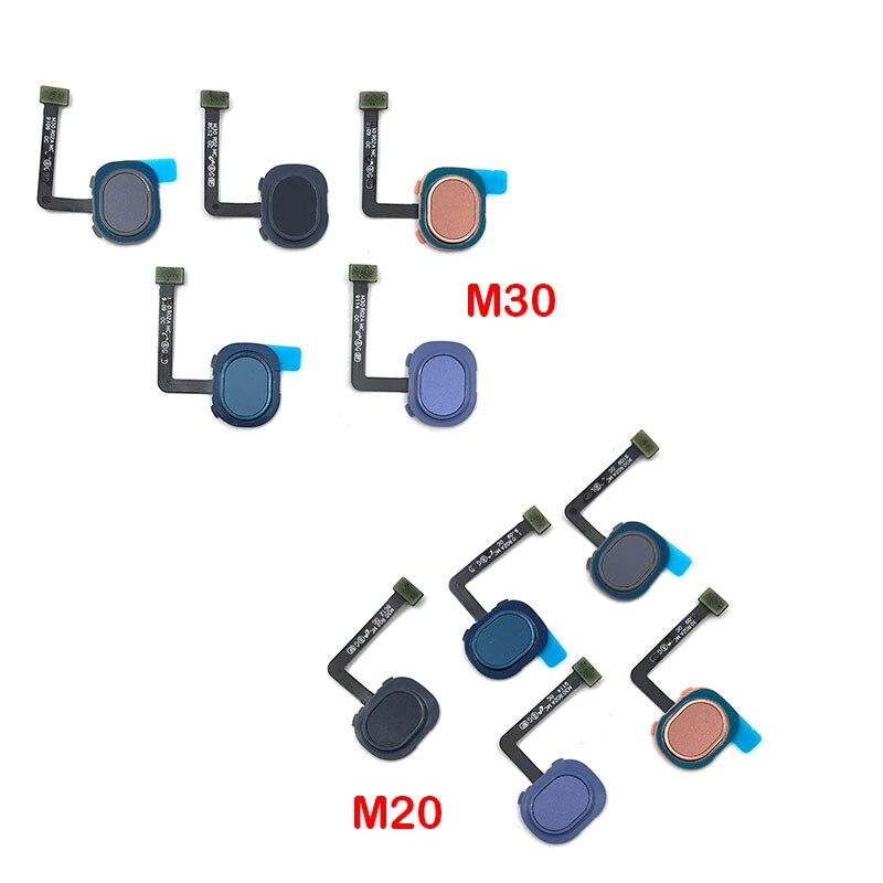 Para Samsung M30 M305F M20 M205F Sensor de huella digital escáner Touch ID conectar placa madre inicio botón Flex Cable